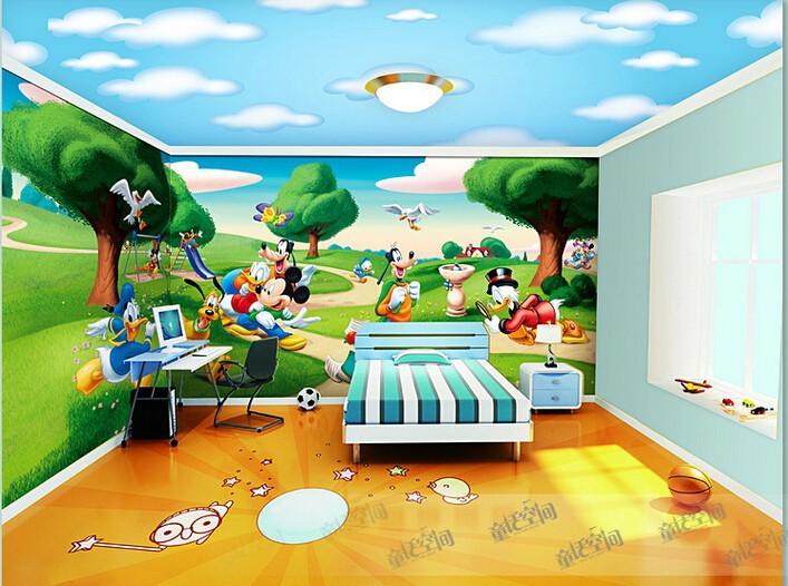 Купить Большой мультфильм росписи обоев фон спальня детская комната обои росписи самоклеющиеся обои