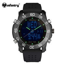 INFANTRY Mens Military Watches Luxury Dual Movement Quartz Watches Russian Police Watches Gift for Male Clock Relogio Masculino