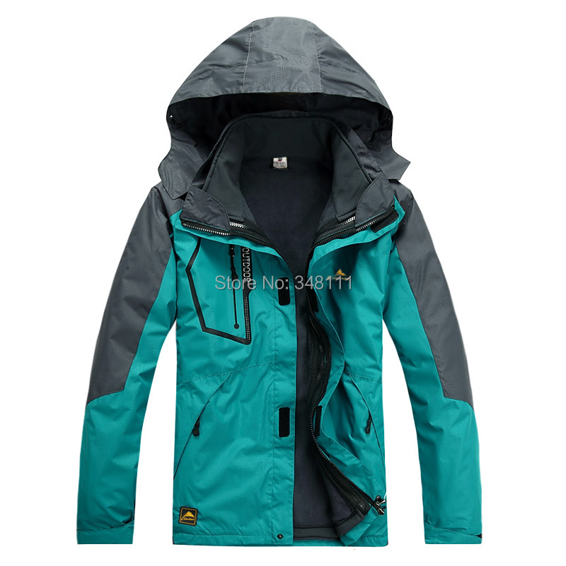 men fashion two coats detachable leisure travel skiwear windproof waterproof outdoor climbing - Integrity of shop store