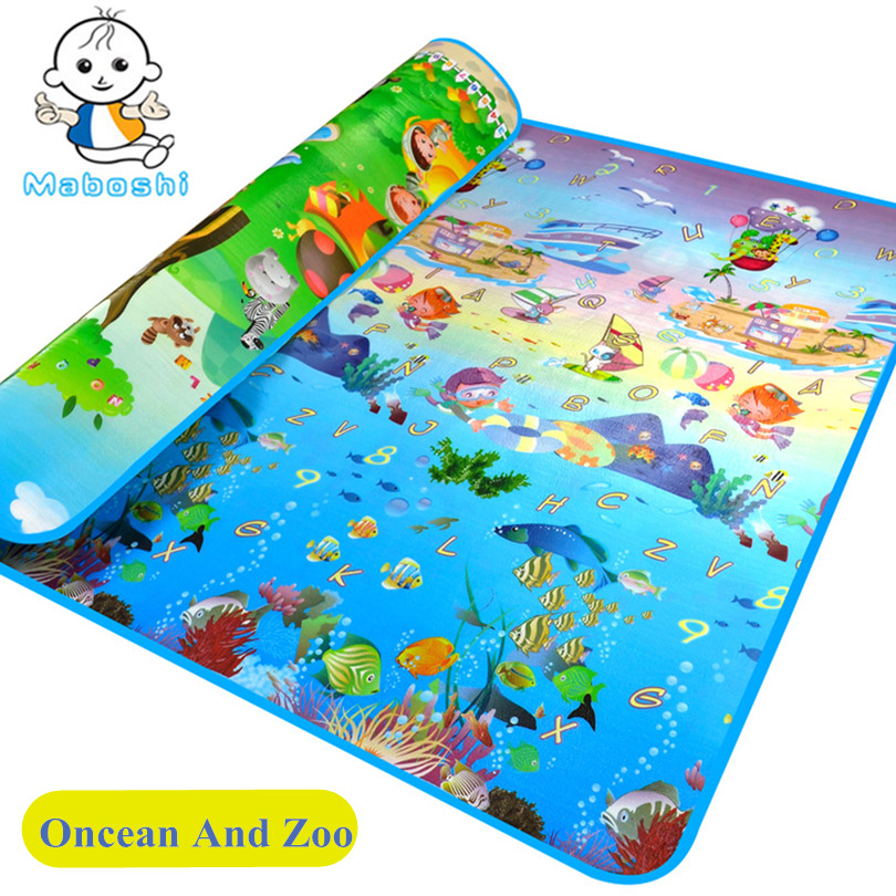 Promotion Authorized Authentic Maboshi Baby Play Mat Ocean Zoo Child Beach Kids Carpet Crawling CM-012 - Cute Zone store