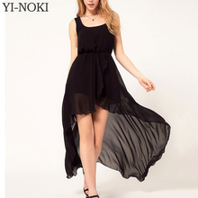 Chiffon Black Dovetail Mixi Dress