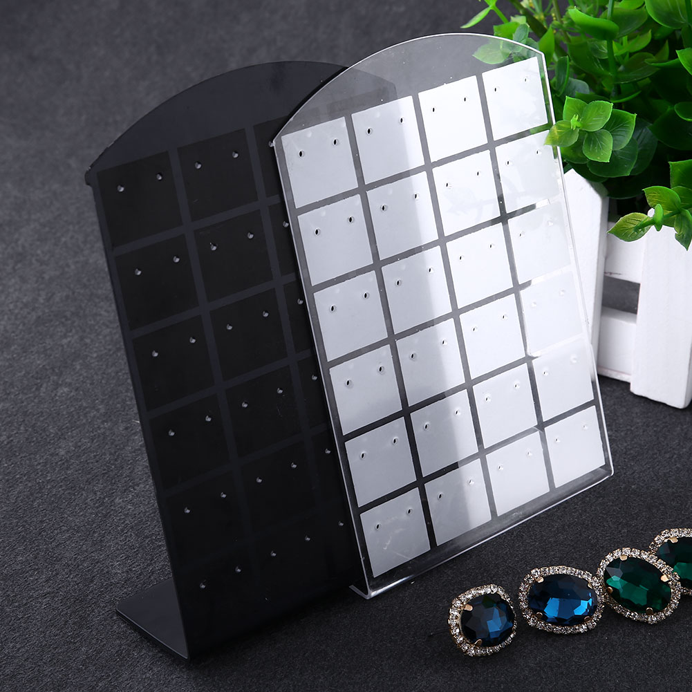 New Fashion 48 Hole Earrings Acrylic Set Ring Display Exhibitor Stand Organizer Holder Showcase Black(China (Mainland))