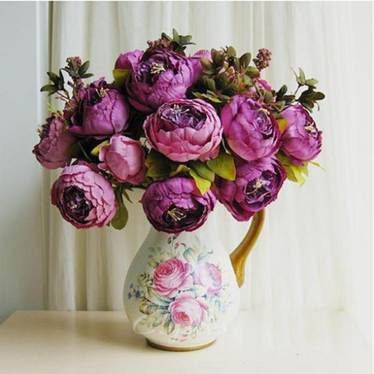 Букеты из искусственных цветов для интерьера фото