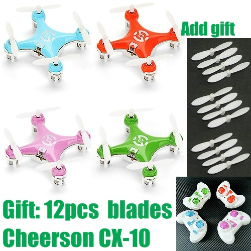 Free Shipping cheerson cx 10 cx10 mini 2 4ghz 4ch rc remote control quadcopter helicopter drone