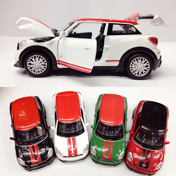 (4pcs/pack) Wholesale 1/28 Scale Car Model Toys MINI Paceman Pull Back Flashing Musical Diecast Metal Car Toy New In Box<br><br>Aliexpress