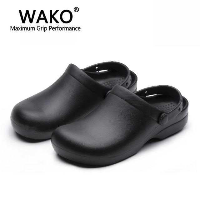 2016 Wako обувь шеф-повар рабочая обувь не скользит обувь мужчина обувь сандалии ...