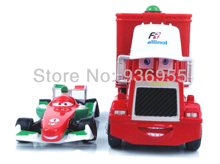Гаджет  1Set=2pcs Free Shipping Pixar cars 2 Toys Diecast metal Mack cars plastic truck F1 Francesco Bernoulli Hauler+Small Racing None Игрушки и Хобби