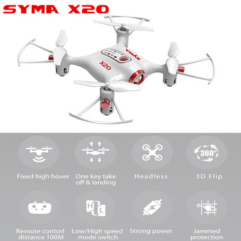 Syma X20 Mini Nano Drone Rc Quadcopter Helicopter 6 Axis Headless Altitude Hold Mode RTF