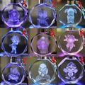 Anime action figure DRAGON BALL LED Keychain llaveros Mujer Marcas Anime Chaveiro Porte Clef Key Holder