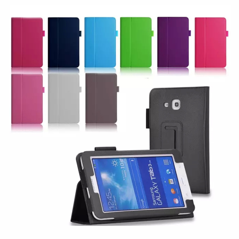 Lichee PU Leather BOOK Cover Cases Stand for Samsung GALAXY Tab 3 Lite 7.0 T110 T111 Tablet Case(China (Mainland))