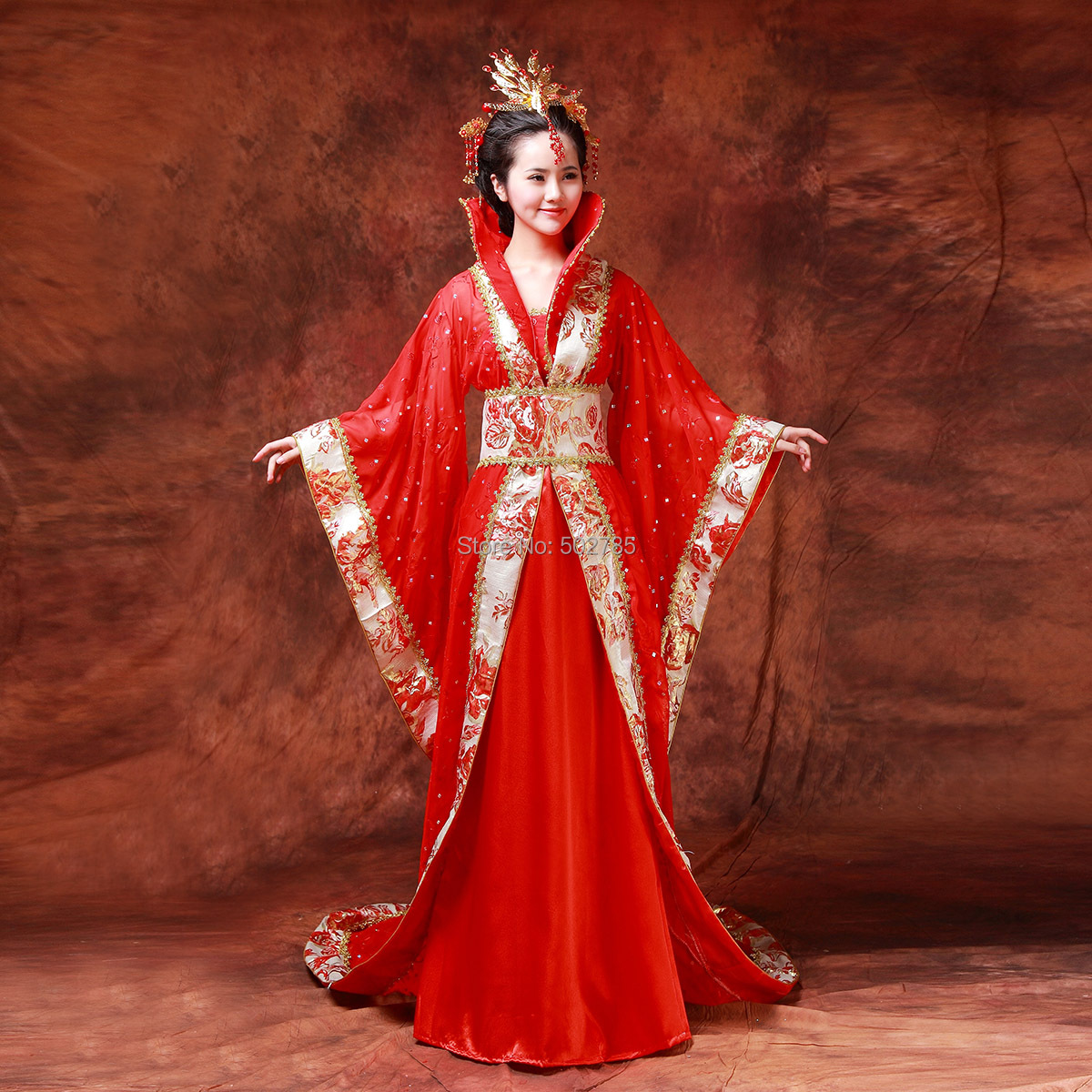 Free shipment Costume tang suit hanfu train queen clothes damings princess costume - Beefoto Photographic Aluminium Alloy Munufacturer store