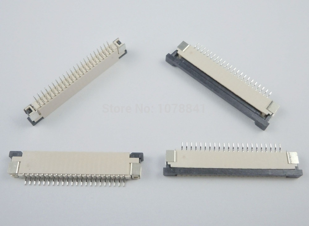 50 Pcs Per Lot FPC FFC 1mm Pitch 22 Pin Drawer Type Ribbon Flat Connector Top Contact(China (Mainland))