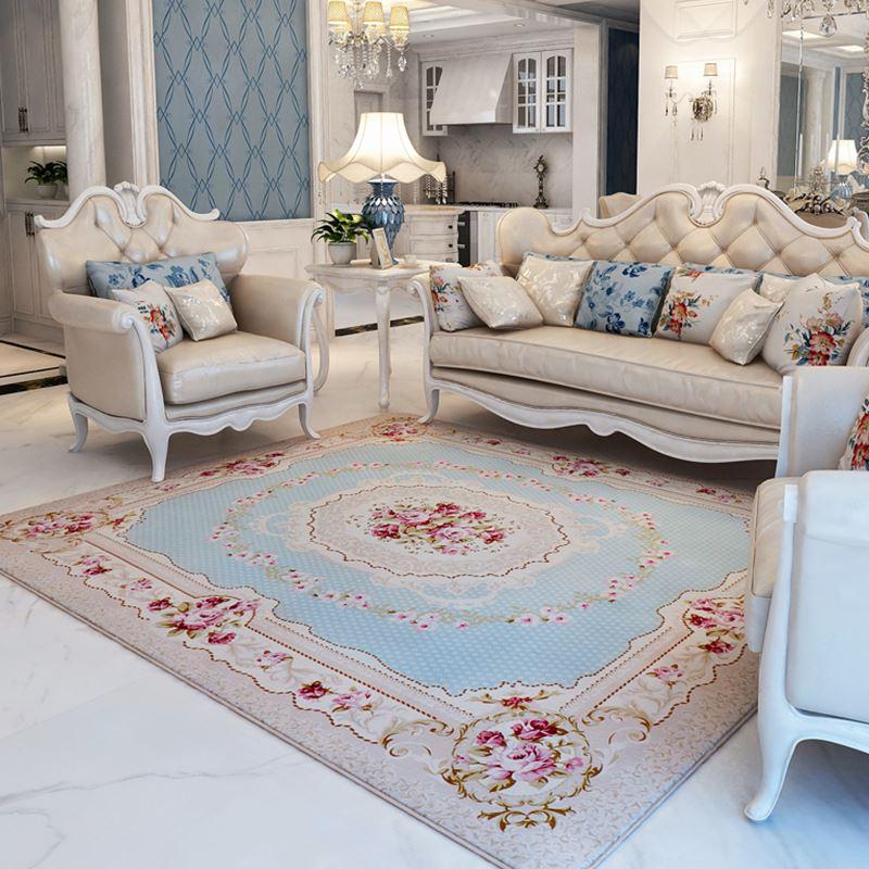 Pastoral big carpet for living room modern brief bedroom bedside rugs