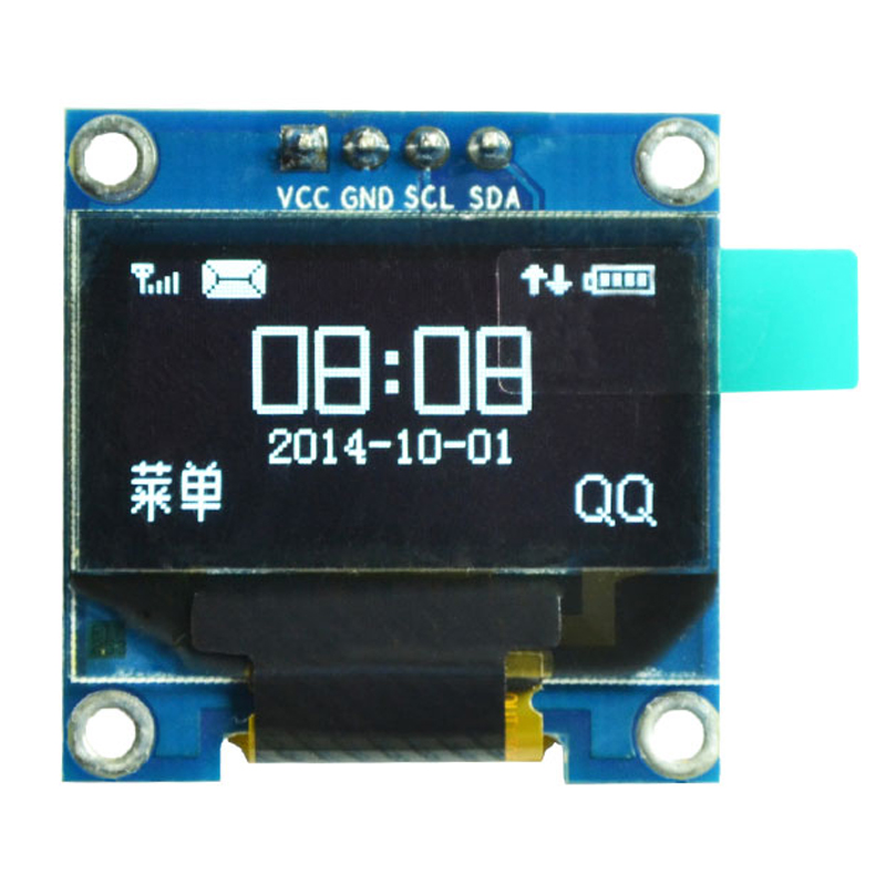 """0.96 inch IIC Serial White OLED Display Module 128X64 I2C SSD1306 12864 LCD Screen Board GND VCC SCL SDA 0.96"""" for Arduino(China (Mainland))"""
