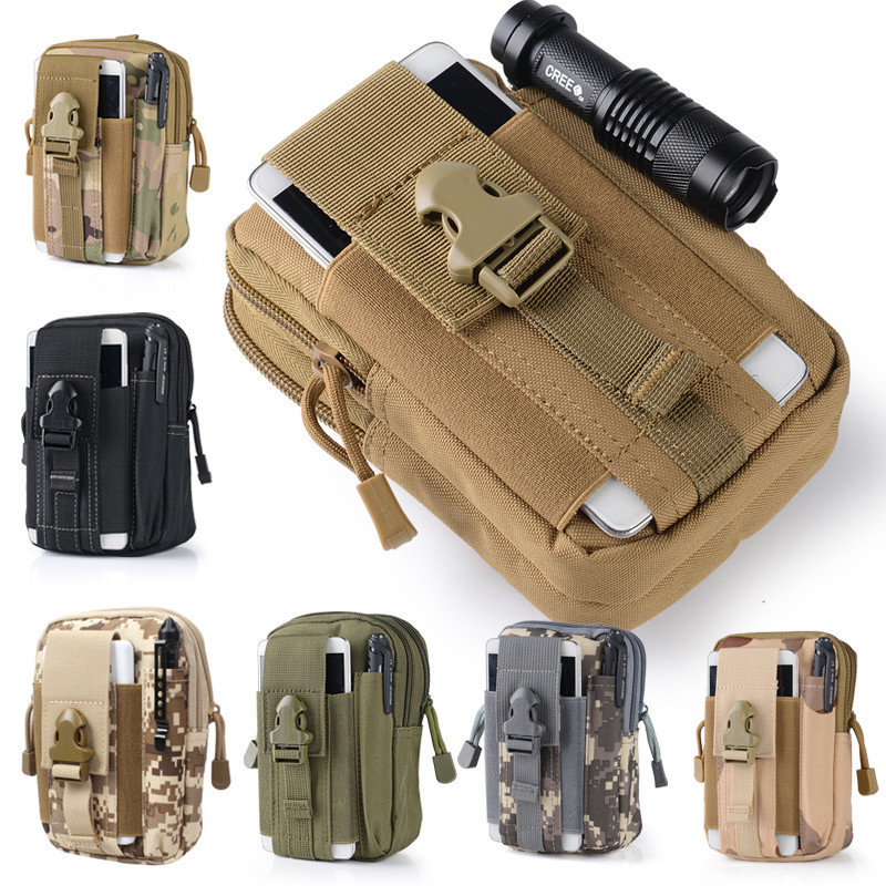 Universal Outdoor Military Molle Hip Waist Bag Wallet Pouch Purse Phone Case For MicroMax/Samsung Galaxy Grand Prime/xiaomi p10(China (Mainland))