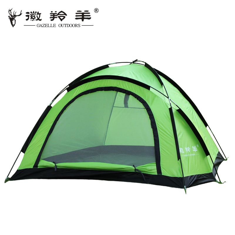 Broadened outdoor fashion plus size double camping tent anti-uv single tier camping tent(China (Mainland))