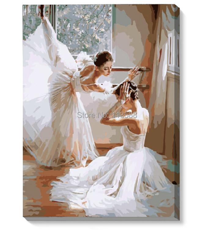 Dancers Ballet dancing 40x50cm DIY digital oil painting numbers home decor wall HD0478 - (mix order$15 storeSunshine Store)