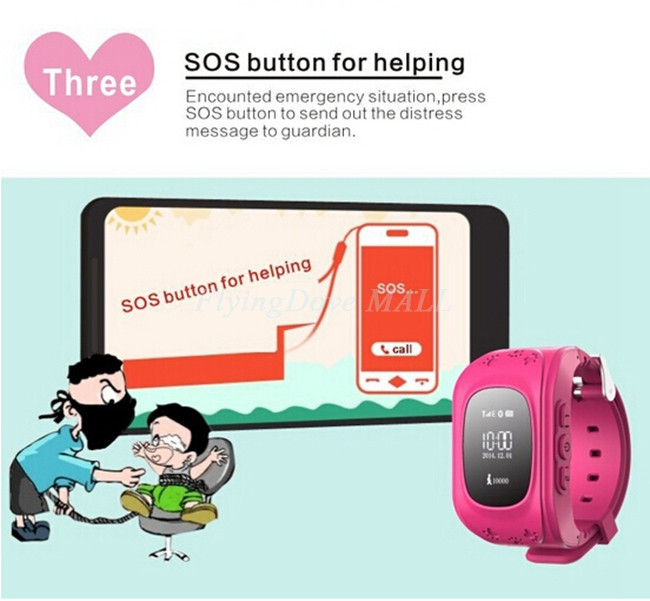 image for XNK Anti Lost GPS Q50 W5 Smart Phone Tracker Wristband Kids SOS GSM Sm