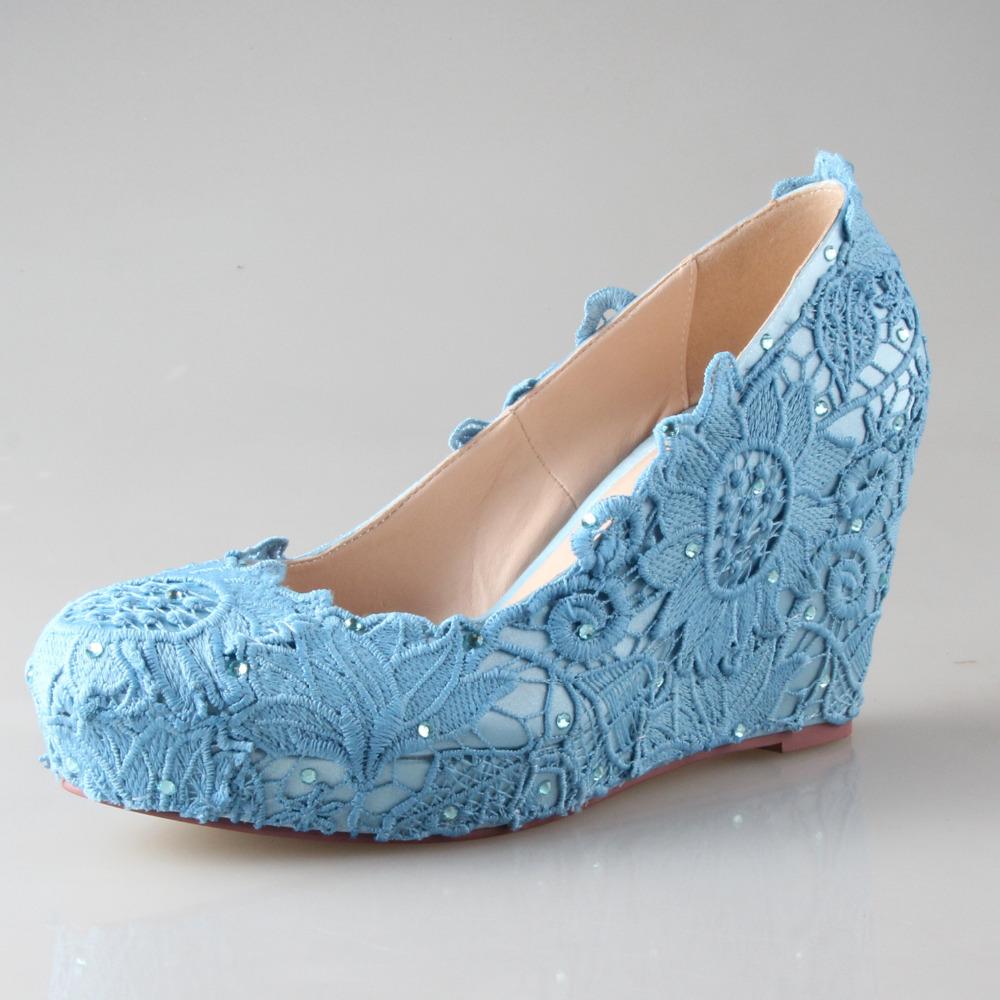 Pale Blue High Heels