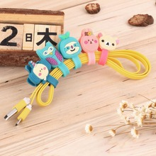 1pcs Earphone Winder Cable Cord Organizer Holder For Iphone Mp5 Multi-styles Cute Cartoon(China (Mainland))