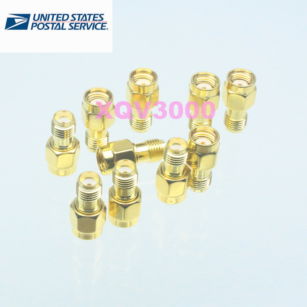 10pcs SMA female jack to RP-SMA male jack center RF coaxial adapter connector(China (Mainland))