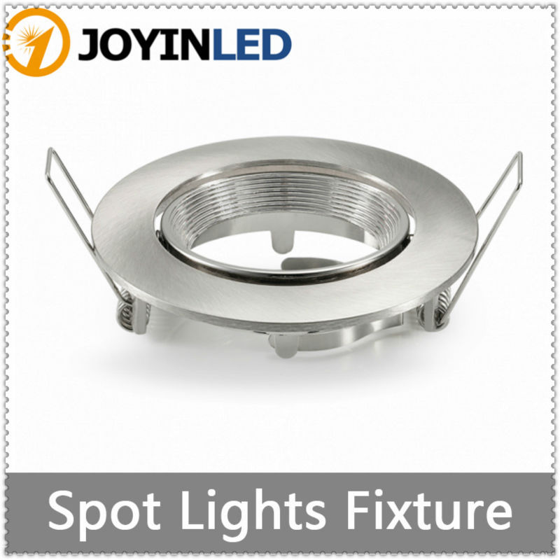 ROUND grille lamps MR16 GU10 Halogen bulb light fitting kits white aluminum led ceiling lamp holders<br><br>Aliexpress