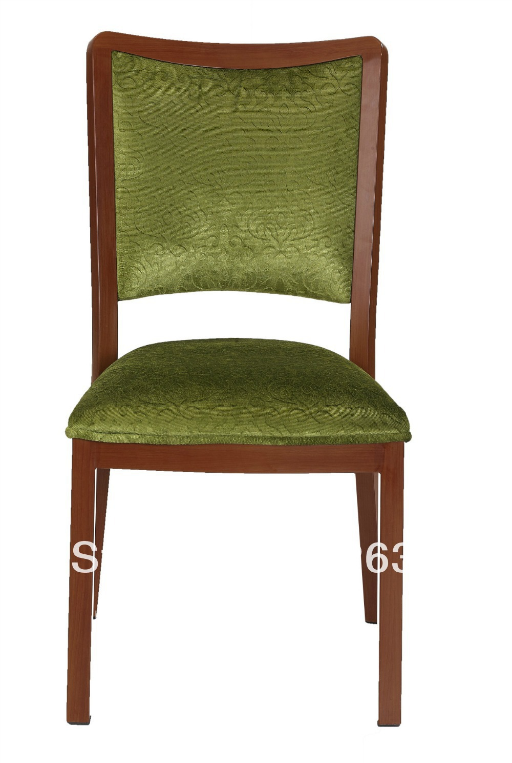 Stackable Wood Grain Aluminum Banquet Chair Heavy Duty Fabric With High Rub Resistance