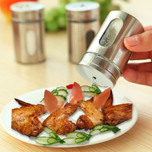 5PCS Stainless Steel Kitchen Appliances Do Spice Jar Seasoning Bottle Toothpick Holder Condiment Bottles 5*8CM(China (Mainland))
