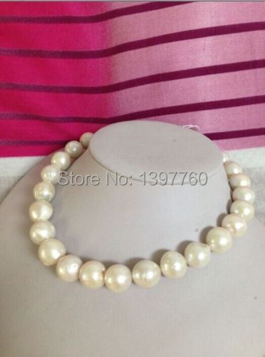 Miss charm Jew.209 classic 12-15mm south sea round white pearl necklace18inch<br>