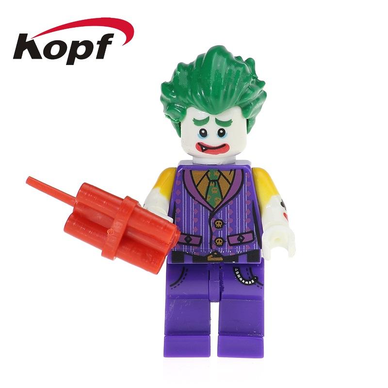 Single Sale Super Heroes Joker Catwoman Batman Robin Poison Ivy Figures Bricks Building Blocks Children Christmas Toys PG100