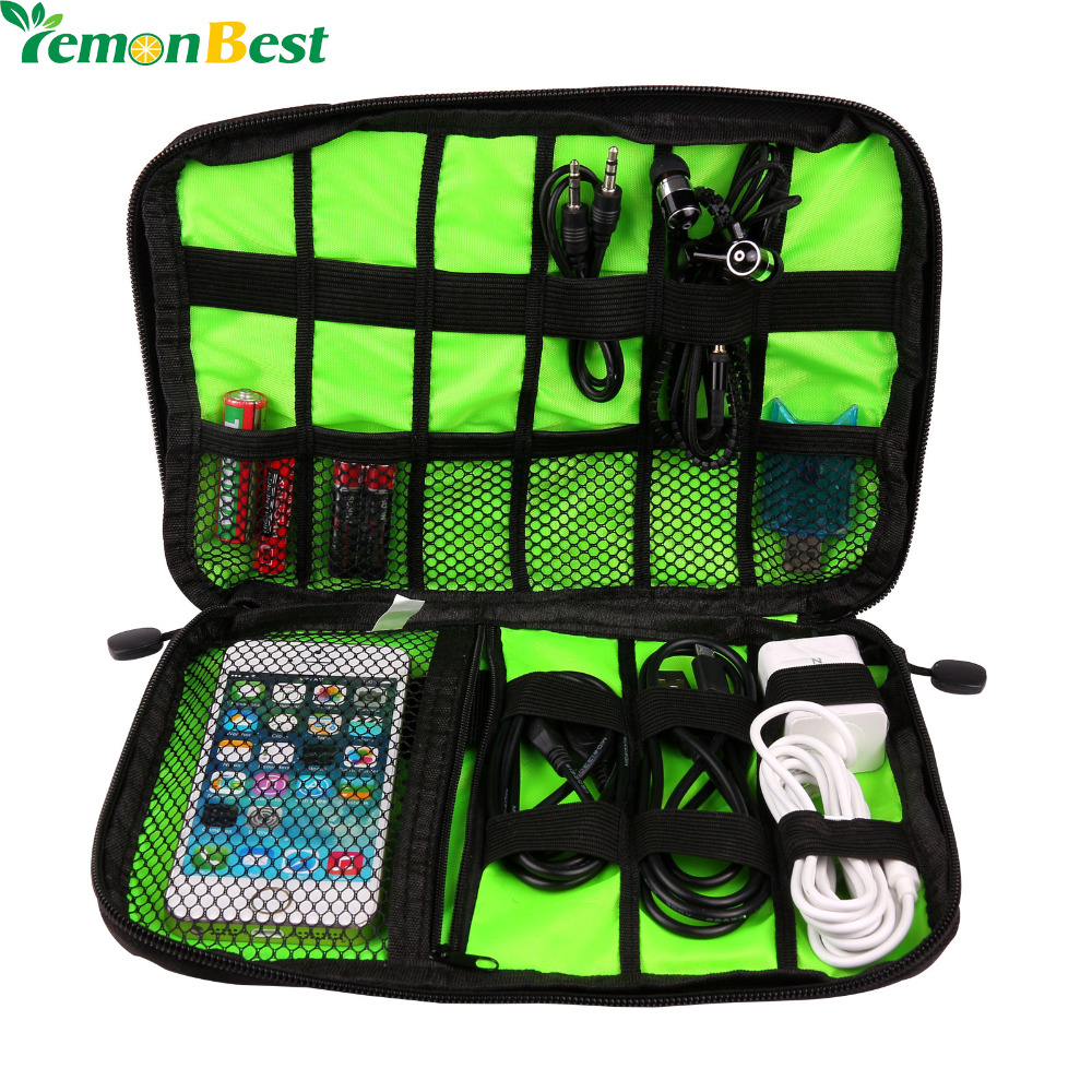 Waterproof Electronic Accessories Storage Bag Oxford Carry Protection Pouch Organiser for Headphone Cable U Disk HDD SD Card(China (Mainland))