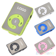 Mini Clip USB MP3 Music Media Player Support 1-8GB Micro SD TF + Headphone + Cable 2LE9(China (Mainland))
