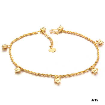 Fashion accessories 18k gold jewelry bride 18k gold anklets kz715