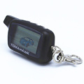 Free shipping Tomahawk X5 2 way LCD Keychain for Russian version Tomahawk X5 auto alarm remote