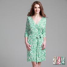 Women's summer sexy modal 100% cotton bathrobes 100% cotton robe sleepwear lounge(China (Mainland))