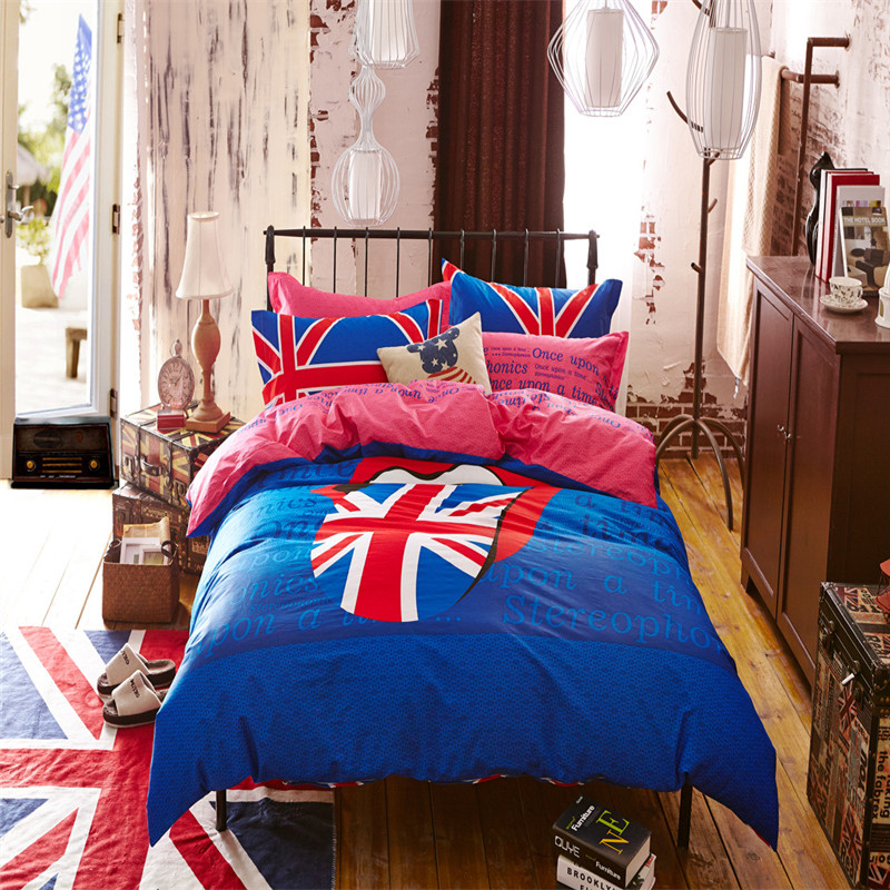 Compare prices on union jack duvet cover queen online for Pink union jack bedding