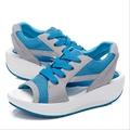 2016 Ladies Platform Sandals Sandalias Summer New Peep Toe Lace up Women Sandals Shoes Muffin Zapatos