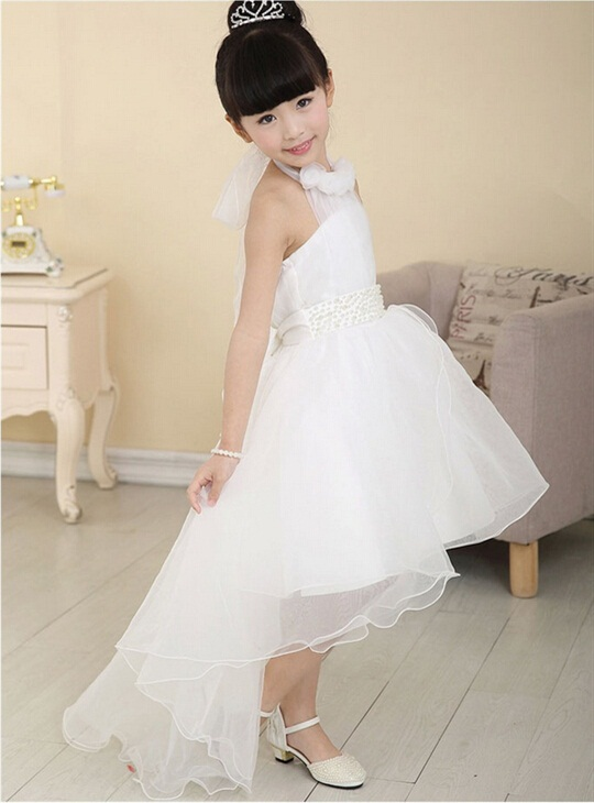 Best LOWEST PRICE Elegant Flower Girls Dress Children's Princess Cute baby girl baptism dresses Wedding Party birthday gift for(China (Mainland))