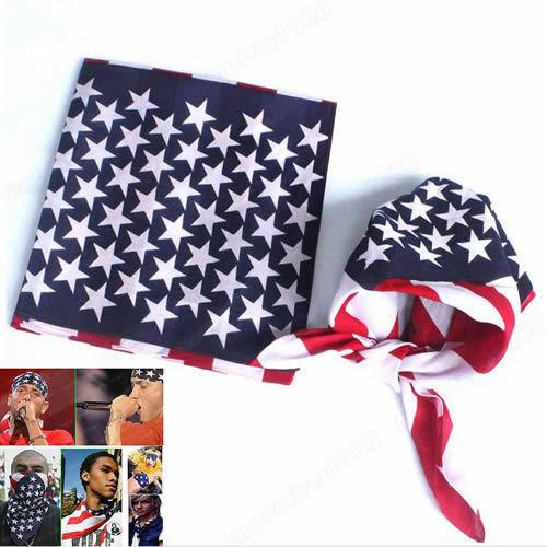 W110 низкая цена! Новинка мужская флаг сша хип-хоп танцевальная путешествия шарфы банданы оптовая продажа
