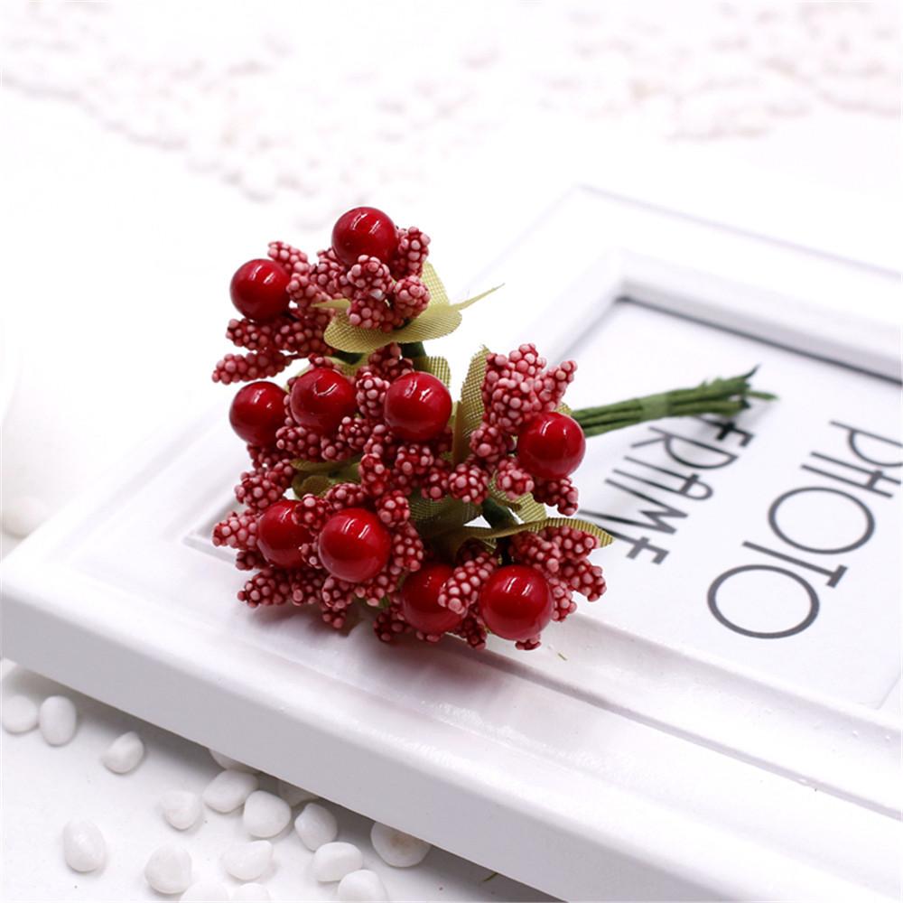 Free Shipping 10pcs / lot Artificial Flowers Mulberry Stamen Wedding Supplies Beads Flower Diy Handmade Scrapbooking Decoration