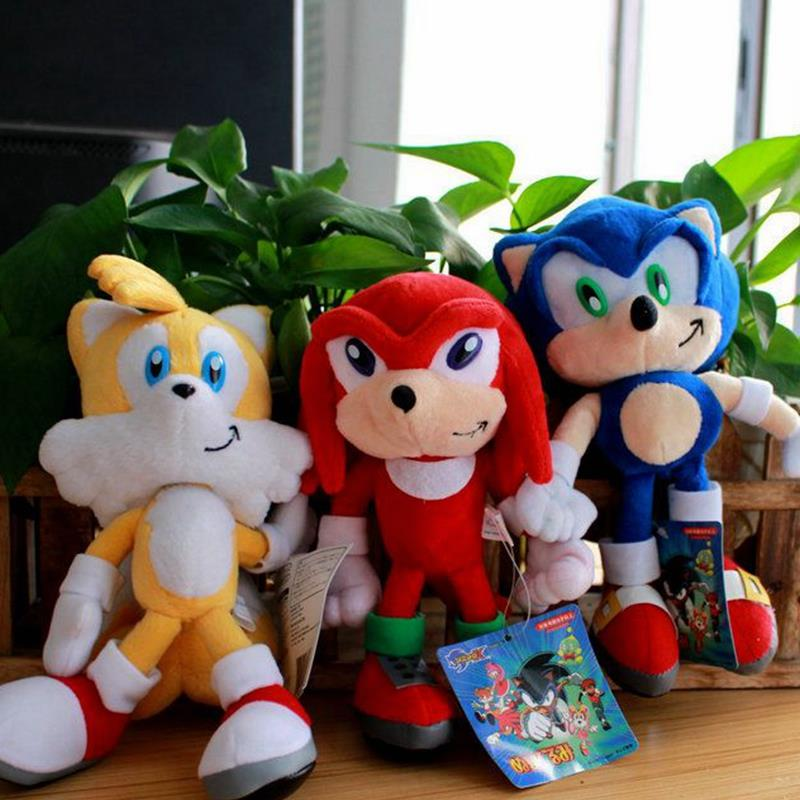 3pcs/set New Arrival Sonic the hedgehog Stuffed Plush Toys Dolls With Tag 923cm Free shipping <br><br>Aliexpress