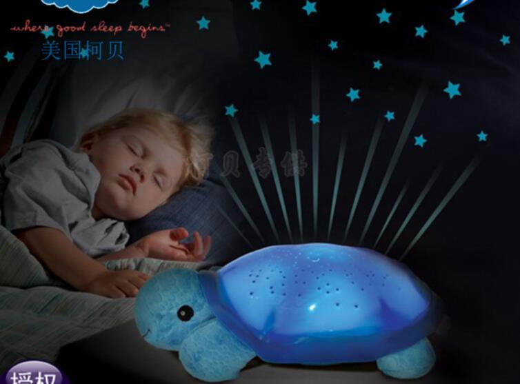 2015 Hot Sale Sleeping Turtle Led Night Light Stars