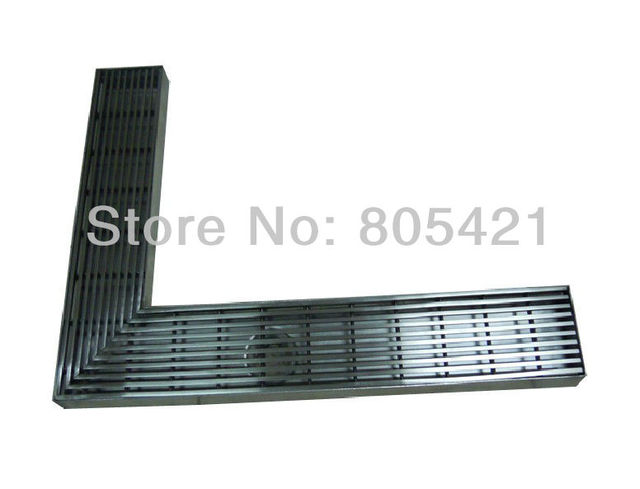 "linear floor drain "" L"" shaped"