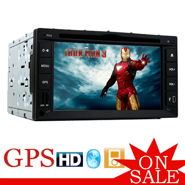 Universal 2 Din 6.2 inch TFT Bluetooth HD Touch Screen Car DVD Audio Video Player with GPS Navigation In-Dash