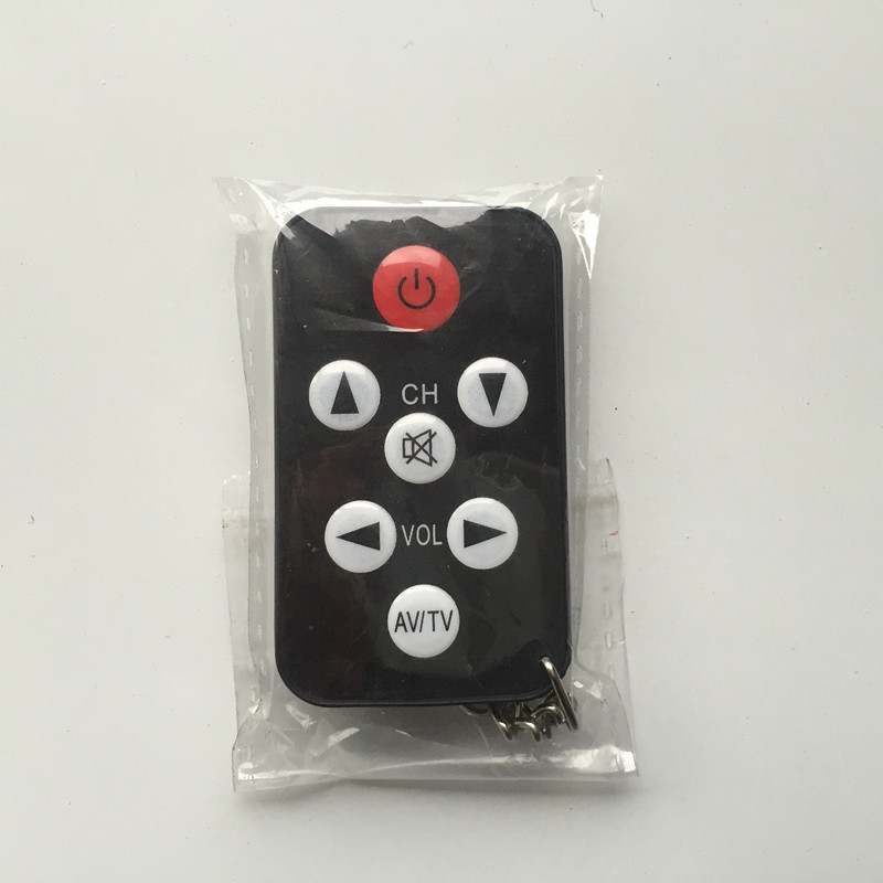 Mini Universal Infrared IR TV Set 7 Keys Television Remote Control Controller Keychain Key Ring Easily(China (Mainland))