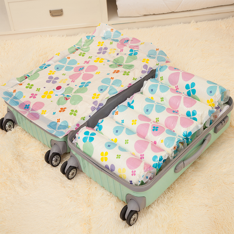 6PCS Vacuum Compression Bags Closet Drawer Storage Bag Travel Underwear Socks Luggage Clothing Bag Thickening Small 55*35cm(China (Mainland))