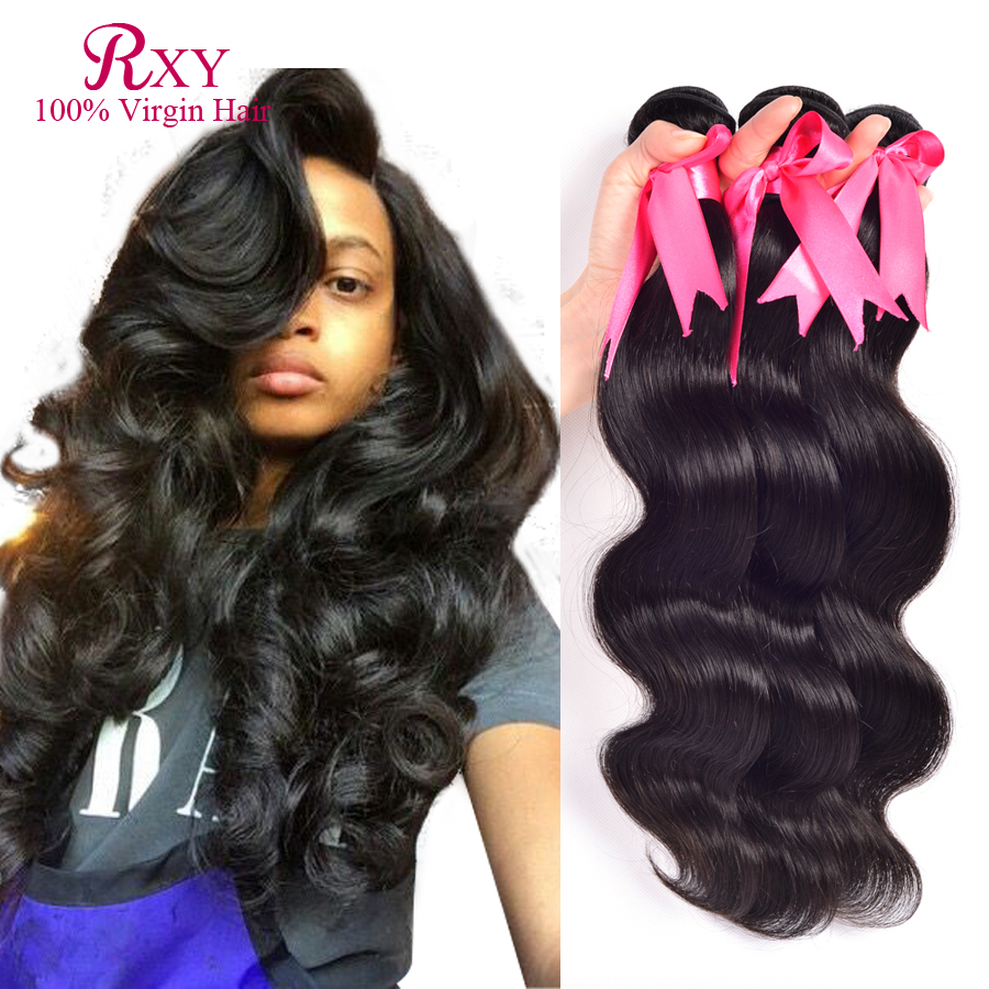 Rosa Hair Products Peruvian Virgin Hair Body Wave Cheap Peruvian Bundles 3pcs 8-30inch 100% Human Hair Tissage Peruvian Weave