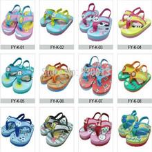Hot New Summer bande dessinée antidérapant enfants Eva chaussures de plage tongs enfants pantoufles enfants sandales pour bébé garçons filles chaussures(China (Mainland))