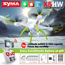 SYMA X5HW FPV RC Quadcopter Drone with WIFI Camera 2.4G 6-Axis VS Syma X5SW Upgrade RC Helicopter with 6 battery + 5 in 1 Cable(China (Mainland))