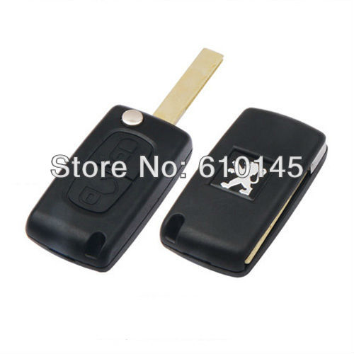 high quality Peugeot 307 remote folding car blank key 2 buttons(China (Mainland))